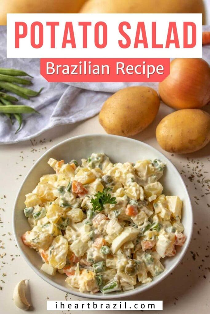 Brazilian potato salad Pinterest graphic