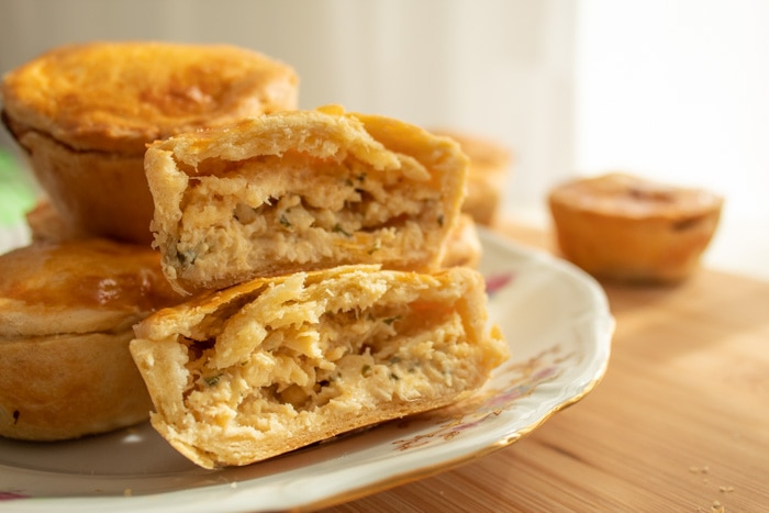 Hand pies with chicken filling