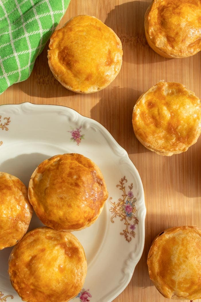 Hearts of palm hand pies is called empadinha de palmito in Brazilian Portuguese