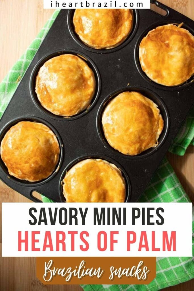Hearts of palm hand pies Pinterest graphic