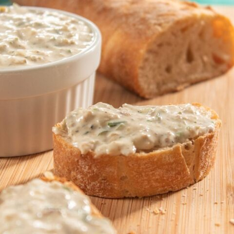 Sardine pate on bread