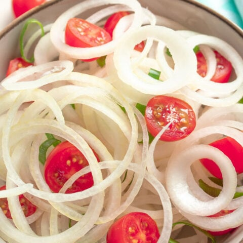 Brazilian onion salad in a bowl