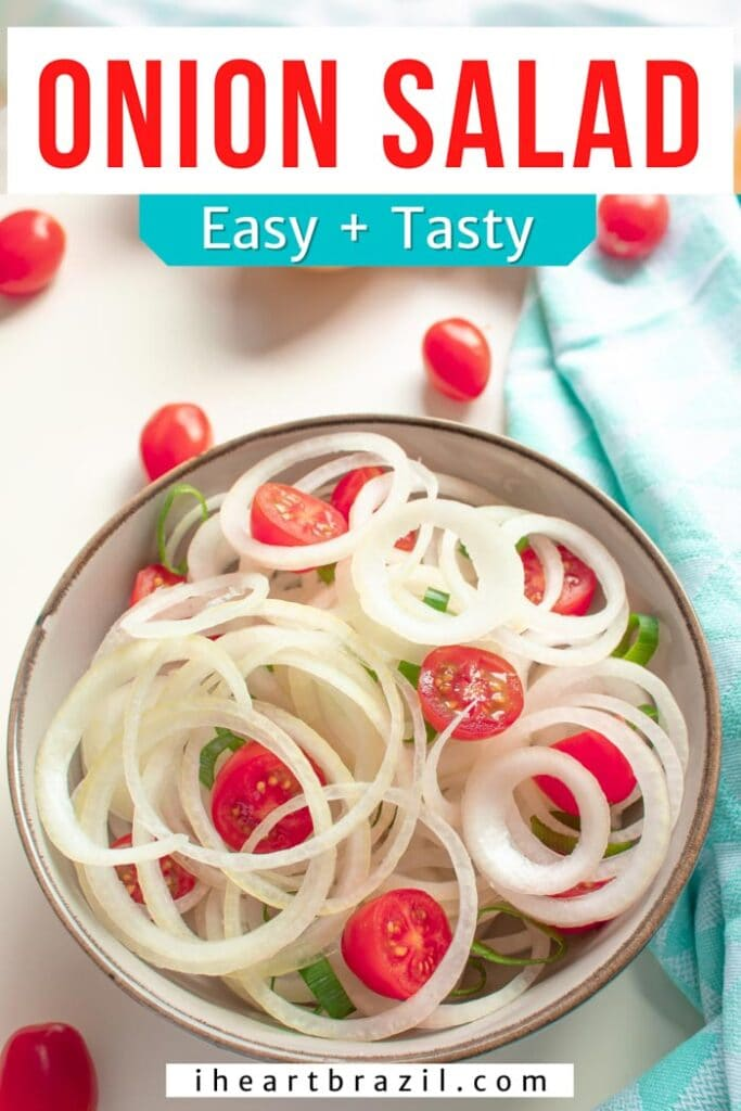 Brazilian onion salad Pinterest graphic