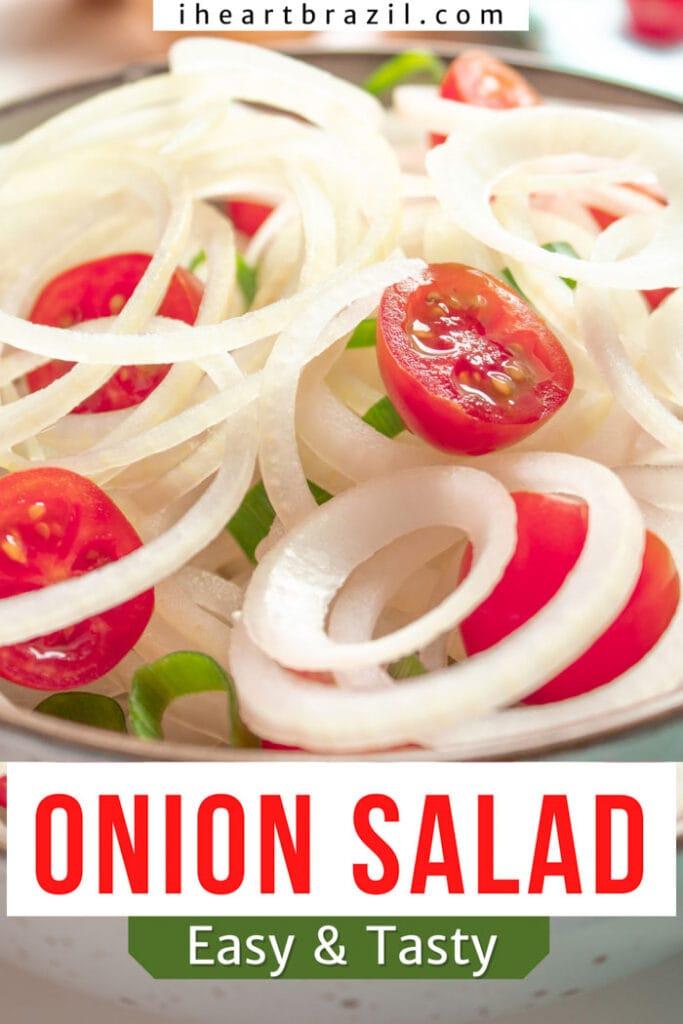 Brazilian onion salad Pinterest graphic