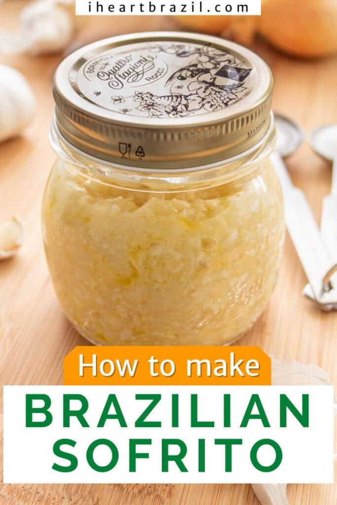 Brazilian sofrito Pinterest graphic