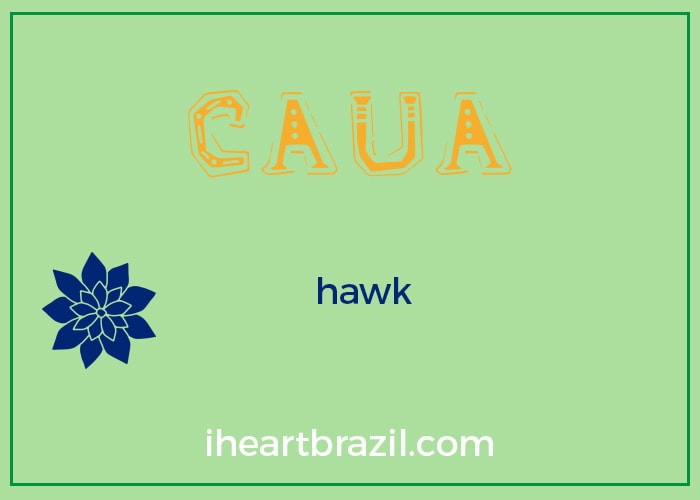 Caua is a popular Brazilian Indigenous name for boys