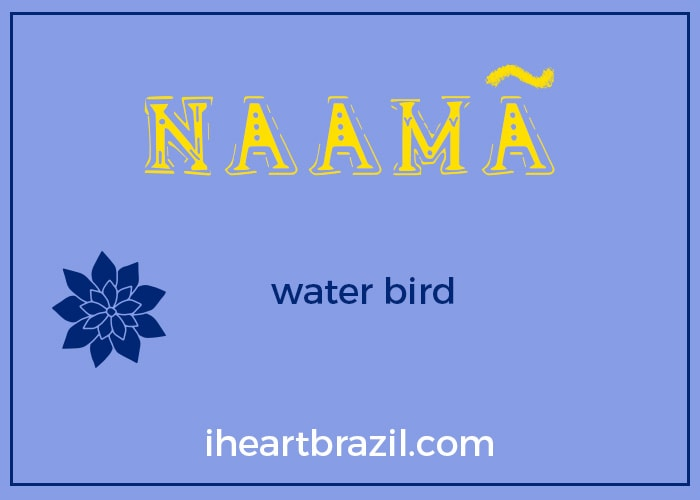 Naama is a popular Brazilian Indigenous name for boys
