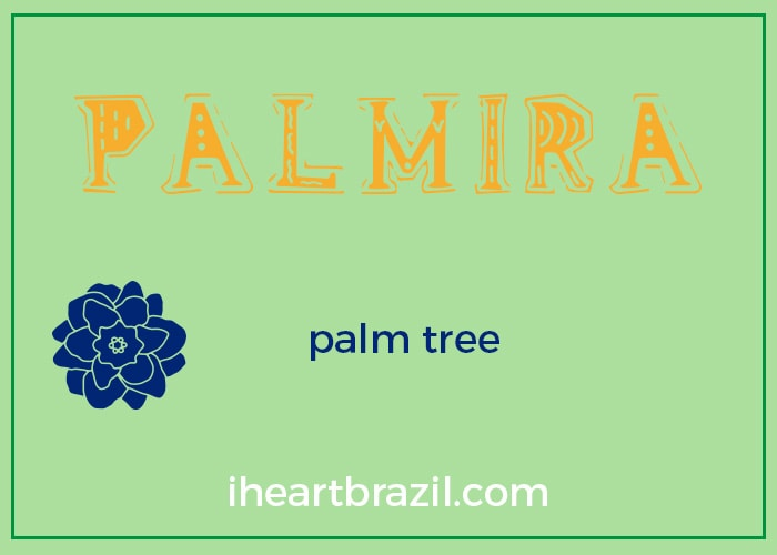 Palmira is a popular Brazilian name for girls