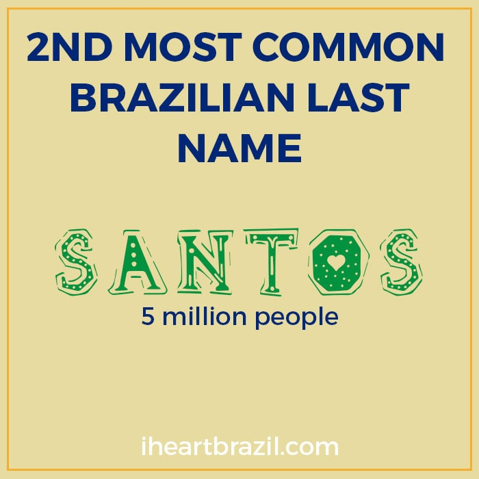 Santos is the 2nd most common Brazilian last name