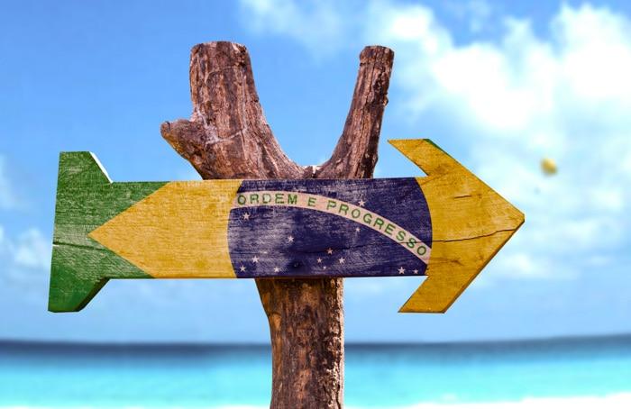Brazil wooden sign