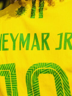 Brazilian name on soccer tshirt