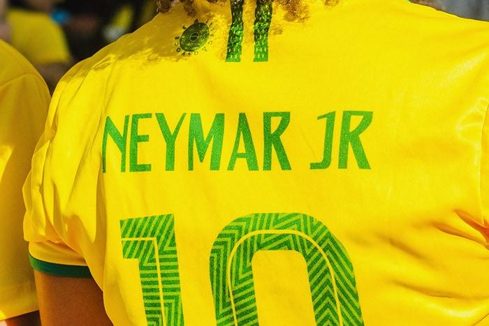 Brazilian name on soccer tshirt