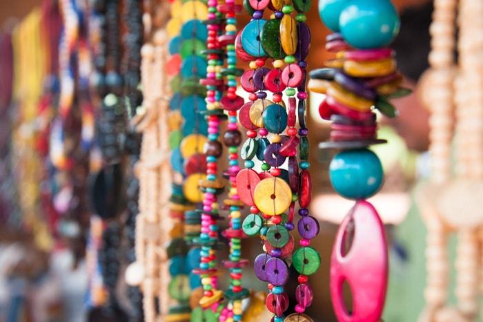 Colorful bijouterie, Brazilian souvenirs