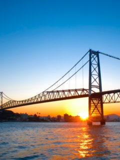 Hercilio Luz Bridge in Florianopolis