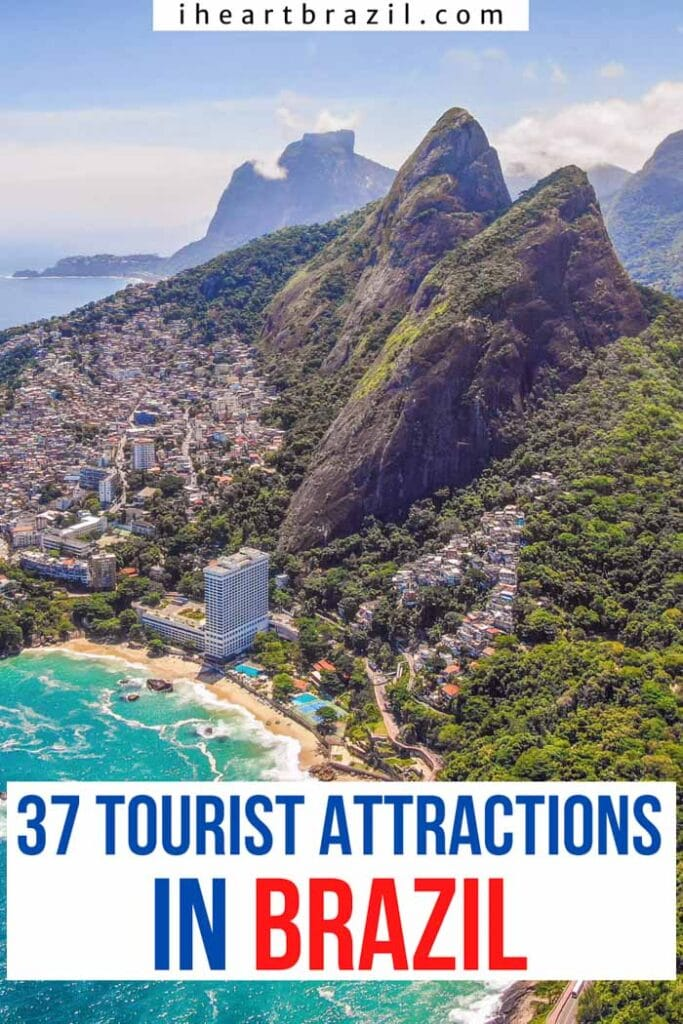 Tourist attractions in Brazil Pinterest graphic