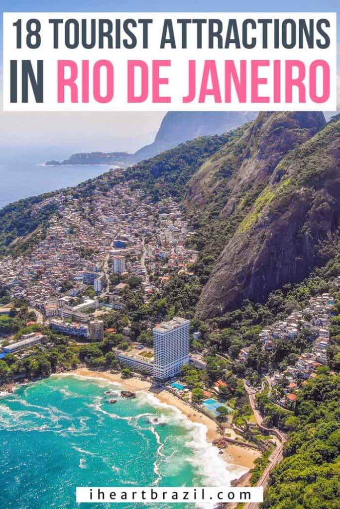 Tourist attractions in Rio de Janeiro Pinterest graphic