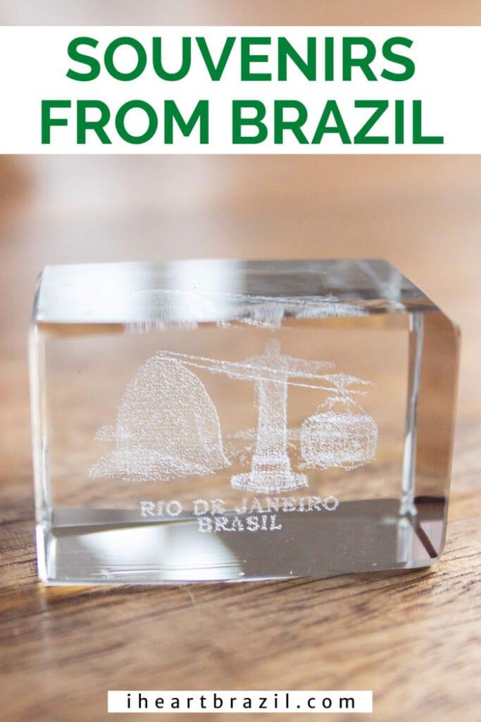 Brazilian souvenirs Pinterest graphic
