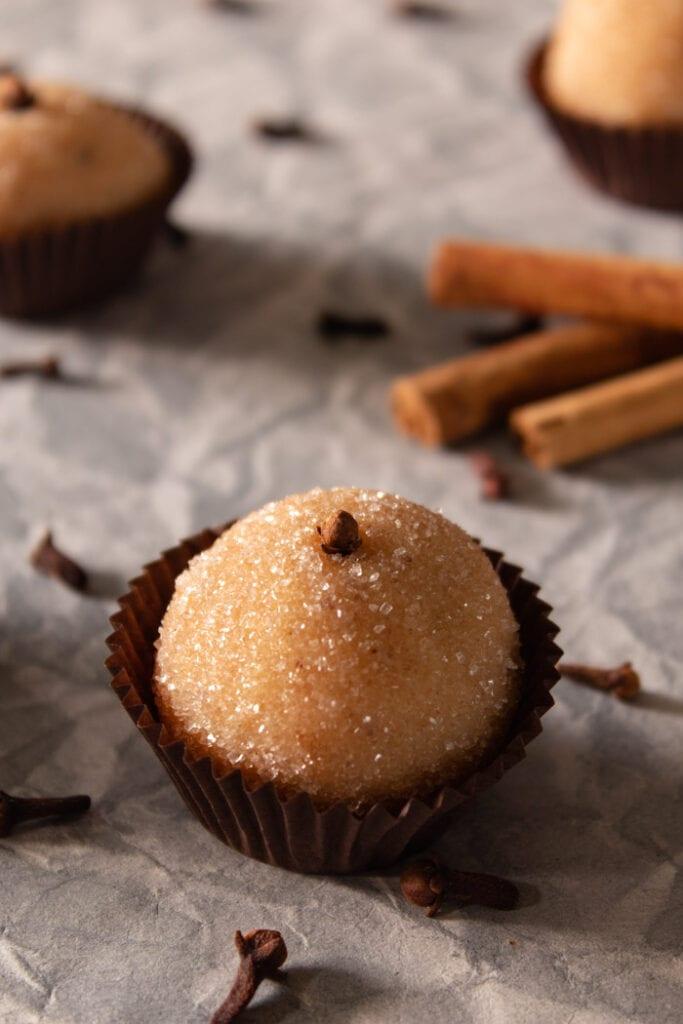 Vanilla brigadeiro truffles