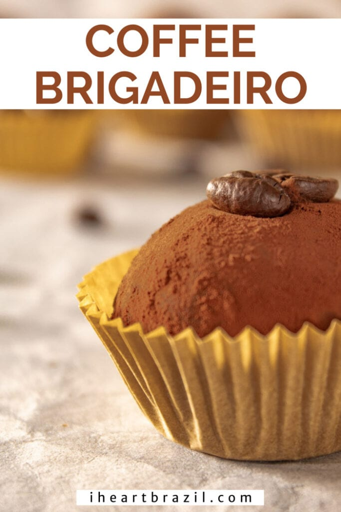 Coffee brigadeiro Pinterest graphic