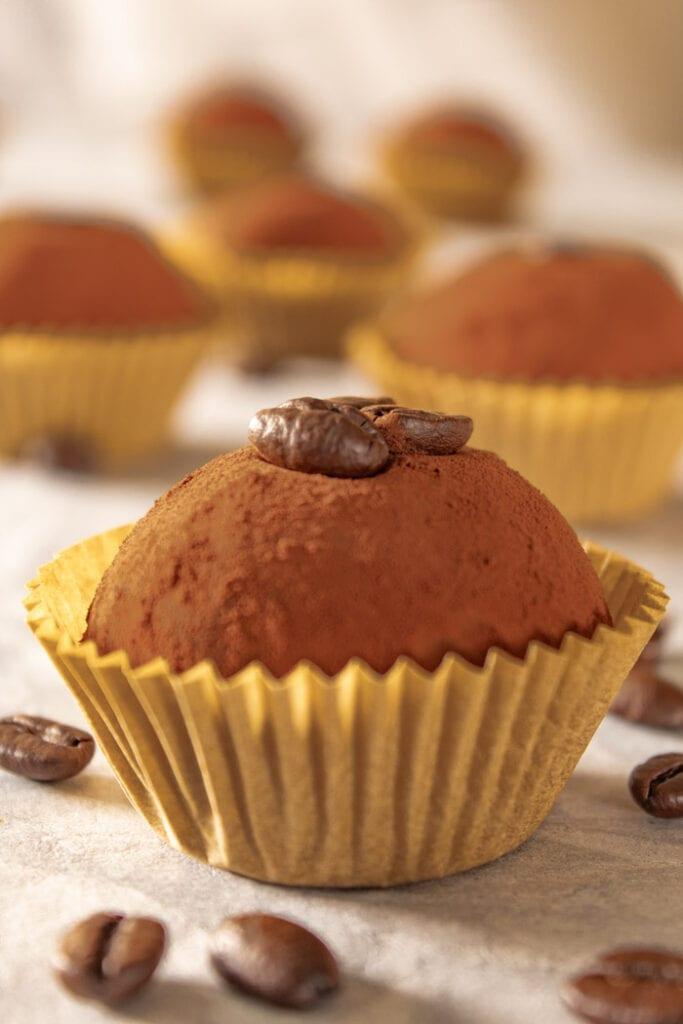 Coffee truffles, brigadeiro