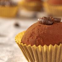 Coffee brigadeiro truffles