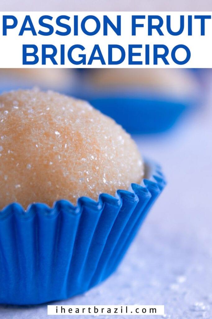 Passion fruit brigadeiro Pinterest graphic