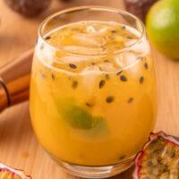 Passion fruit caipirinha