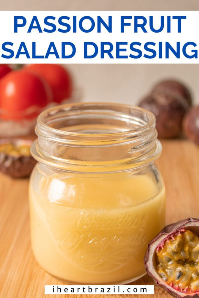 Passion fruit dressing Pinterest graphic