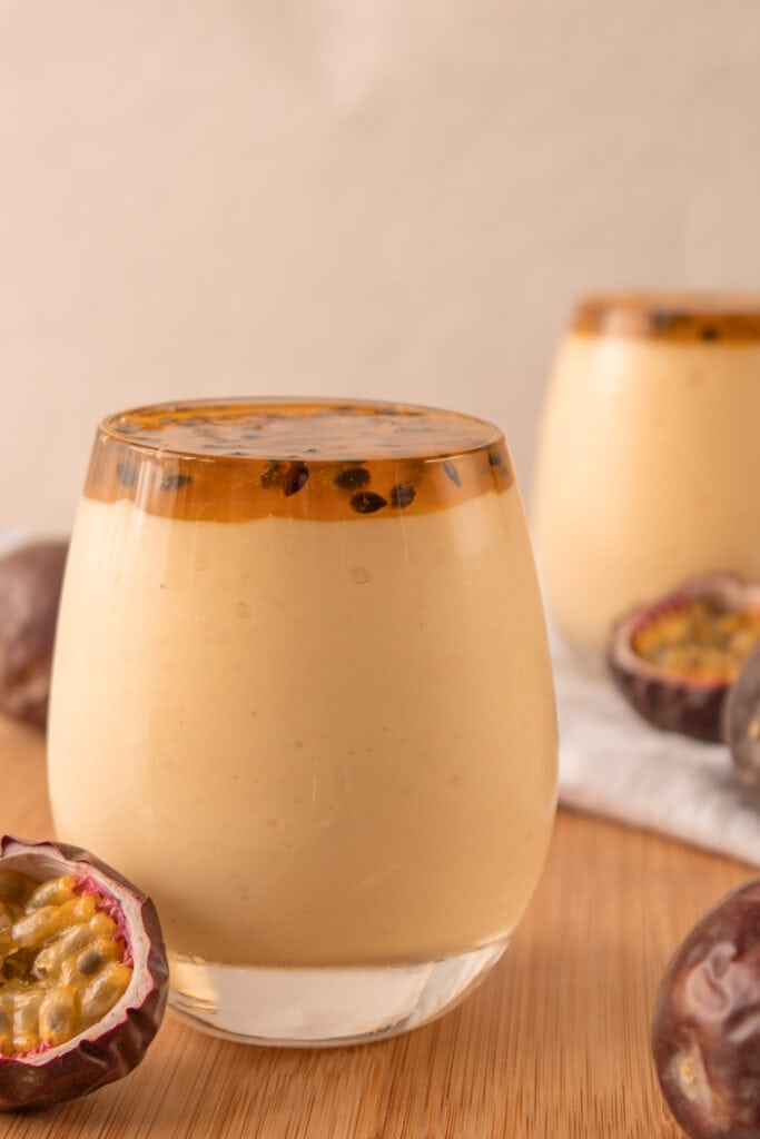 Passion fruit mousse cups