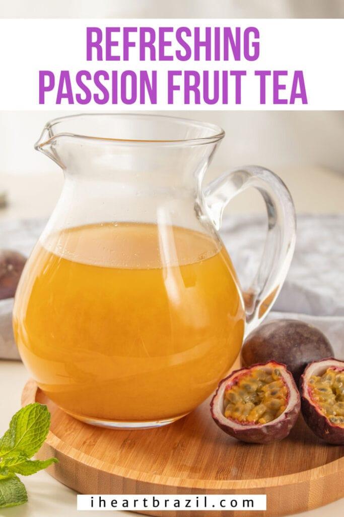 Passion fruit tea Pinterest graphic