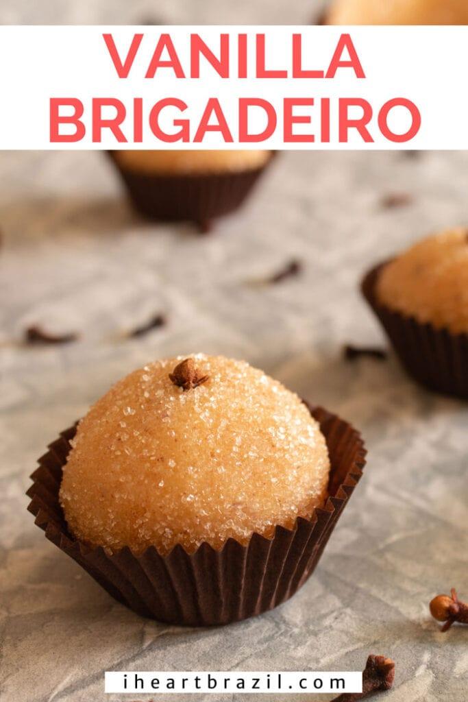 Vanilla brigadeiro Pinterest graphic