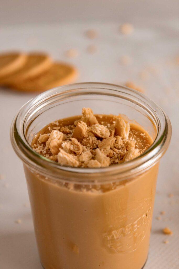Glass of Dulce de leche pudding