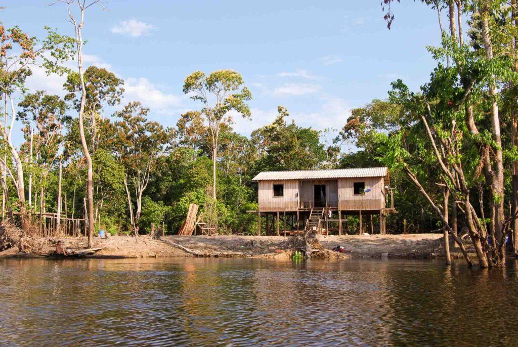 House shore Amazon River near Manaus