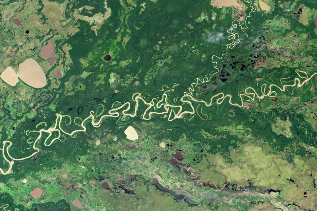 Meandering of the Amazon River by NASA