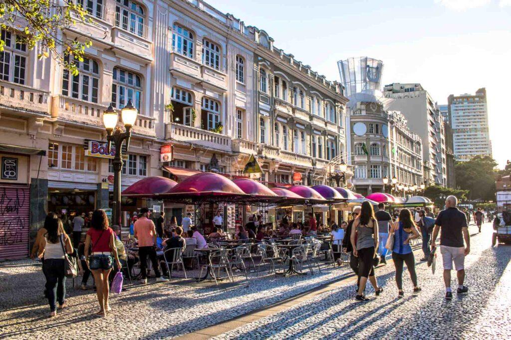 XV de Novembro Street in Curitiba, Brazil