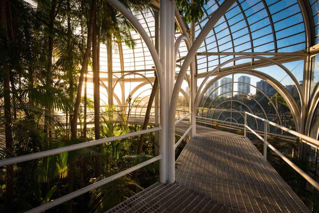 Inside the Botanical Garden in Curitiba, Brazil