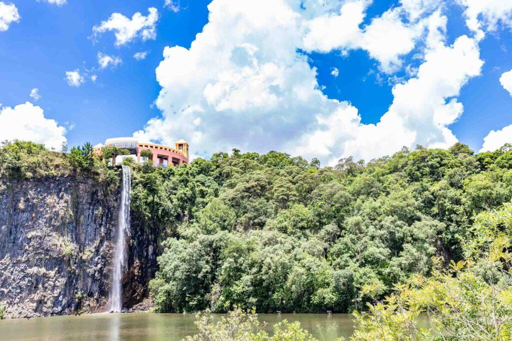 View of waterfall in Tangua Park, Curitiba, Brazil
