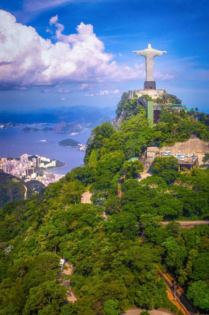 Christ the Redeemer watching over Rio de Janeiro, Brazil