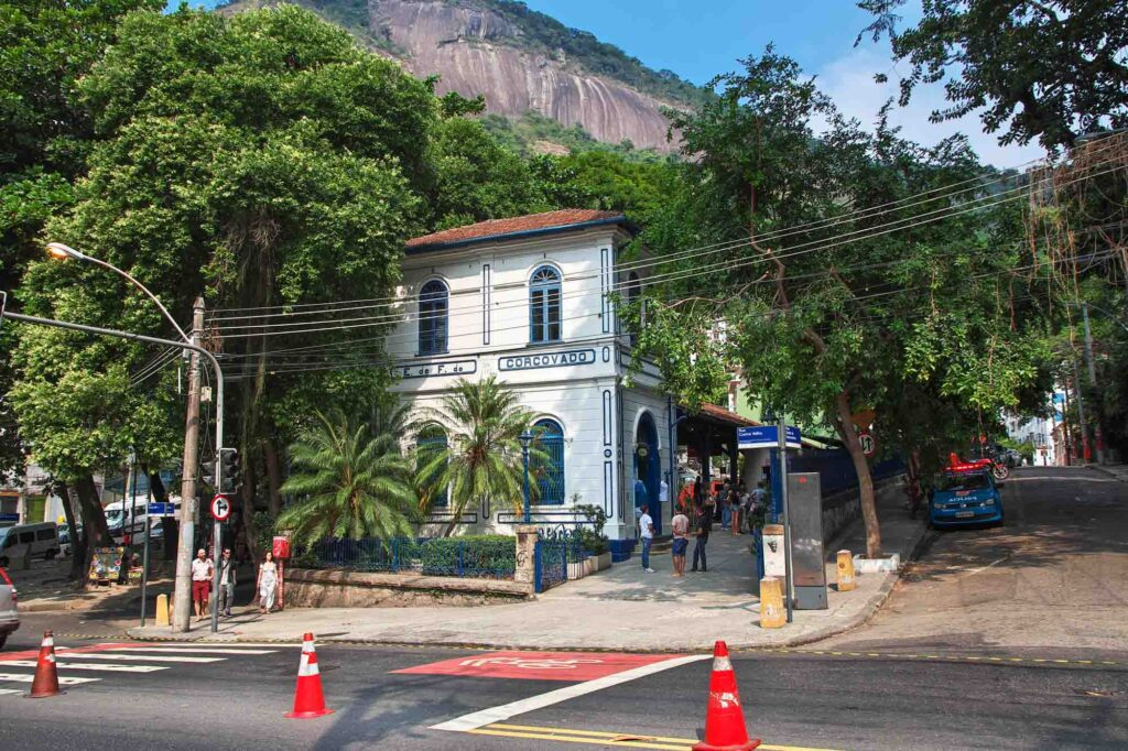 Corcovado Train Station to reach the Christ the Redeemer statue
