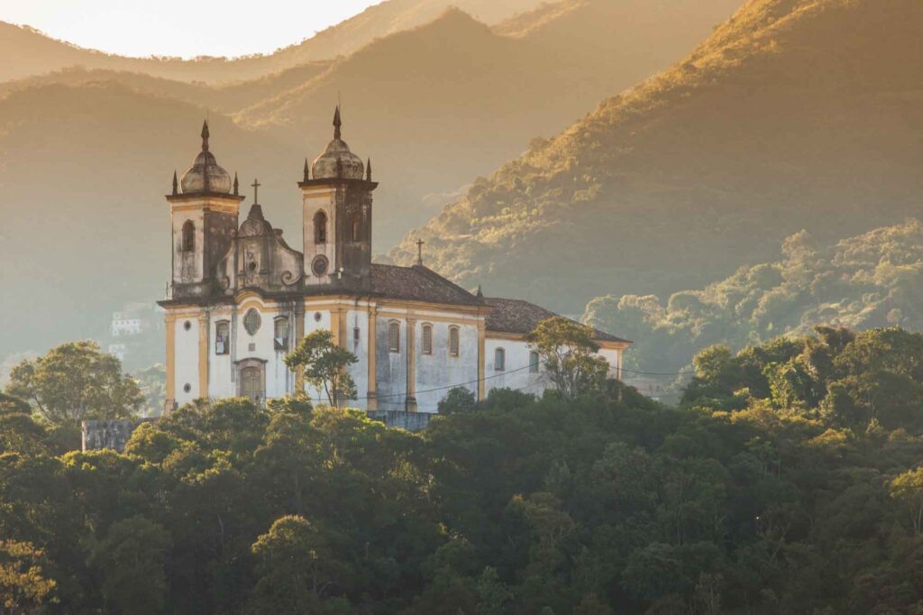 Ouro Preto church is one of top attractions in Mina Gerais