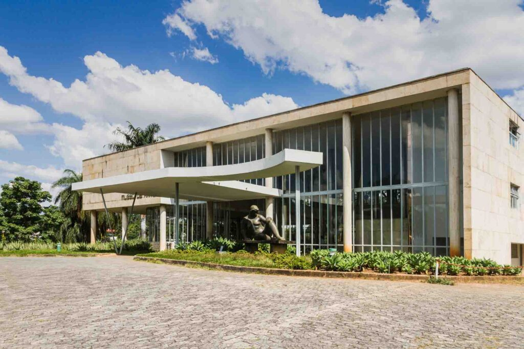 Enjoying art in the Pampulha Art Museum is one of the Things to Do in Belo Horizonte, Brazil