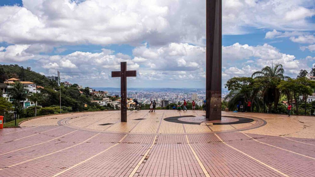 Gazing at the horizon on Pope's Square is one of the best things to do in Belo Horizonte, Brazil
