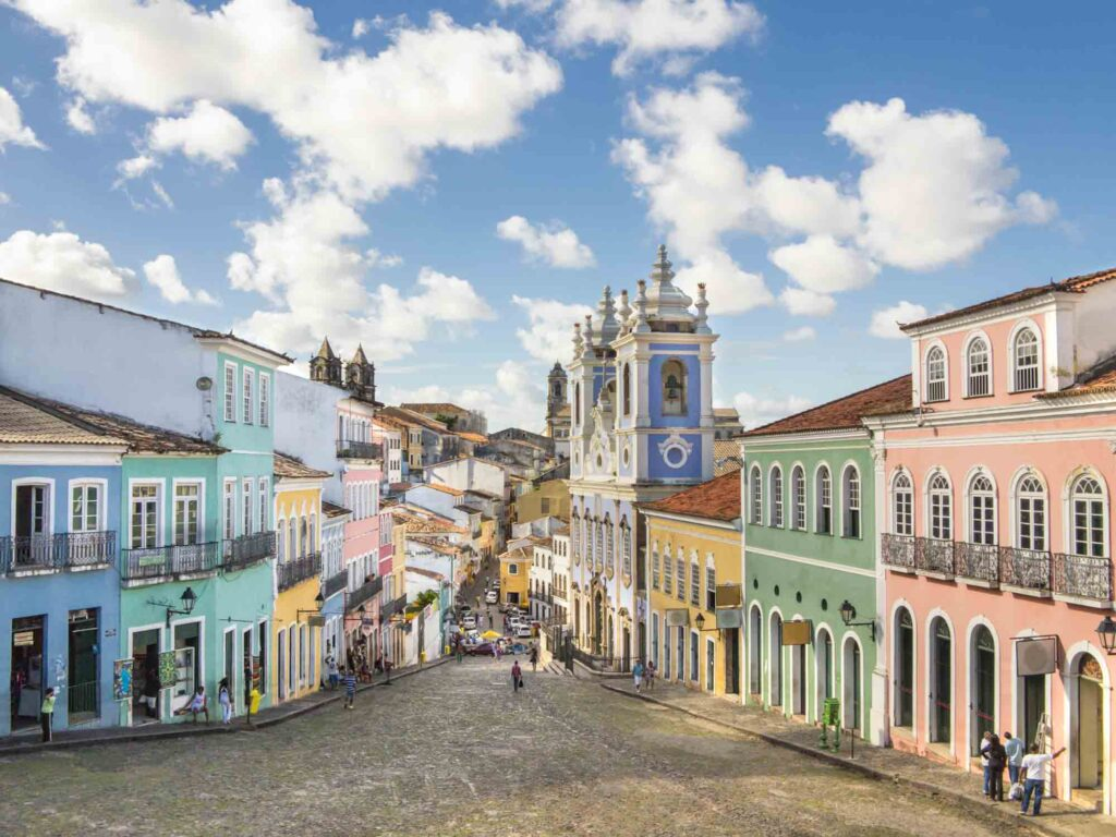 Walking the Cobblestone Streets of Pelourinho is one of the best things to do in Salvador, Brazil