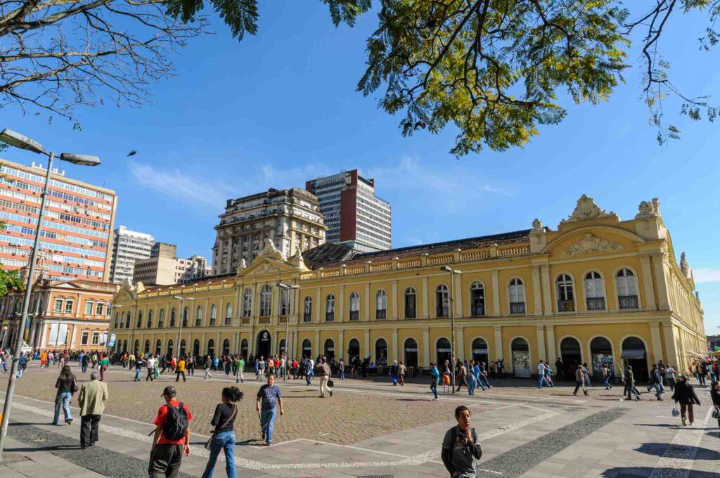 Shopping at the Porto Alegre public market is one of the fun things to do in Porto Alegre, Brazil