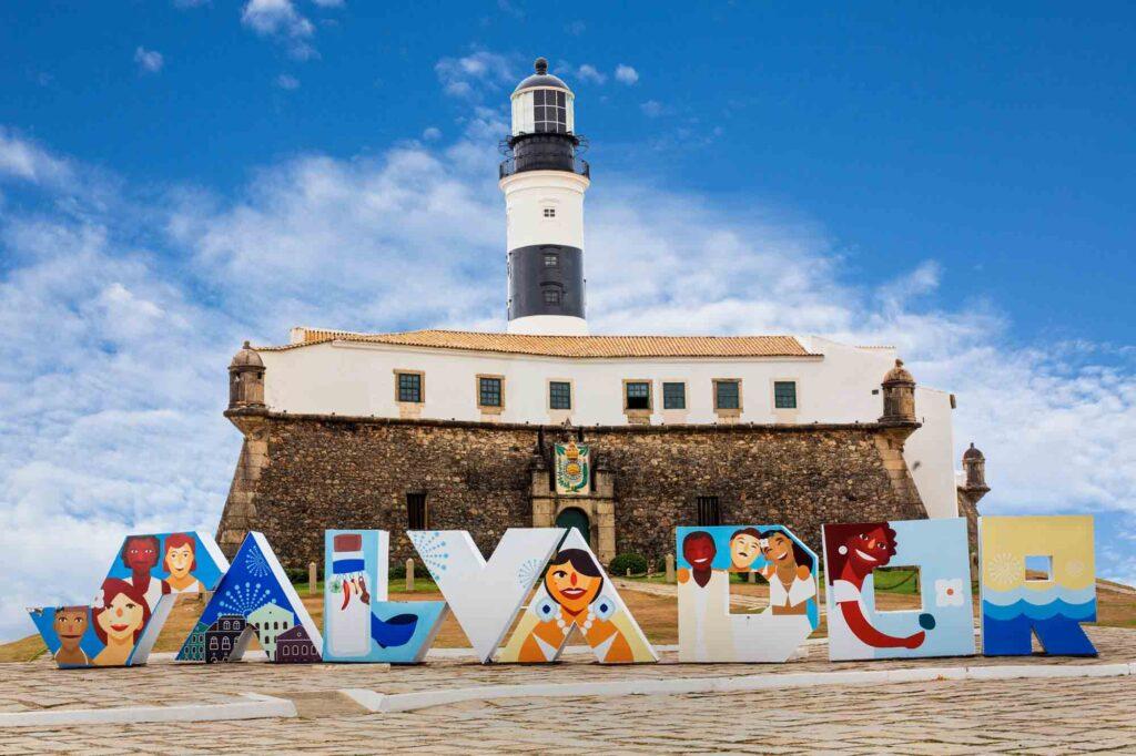 The Barra's Lighthouse (Farol da Barra) in Salvador, Bahia