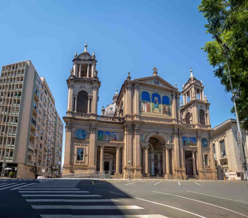Admiring the Metropolitan Cathedral of Our Lady Mother of God is one of the best things to do in Porto Alegre, Brazil