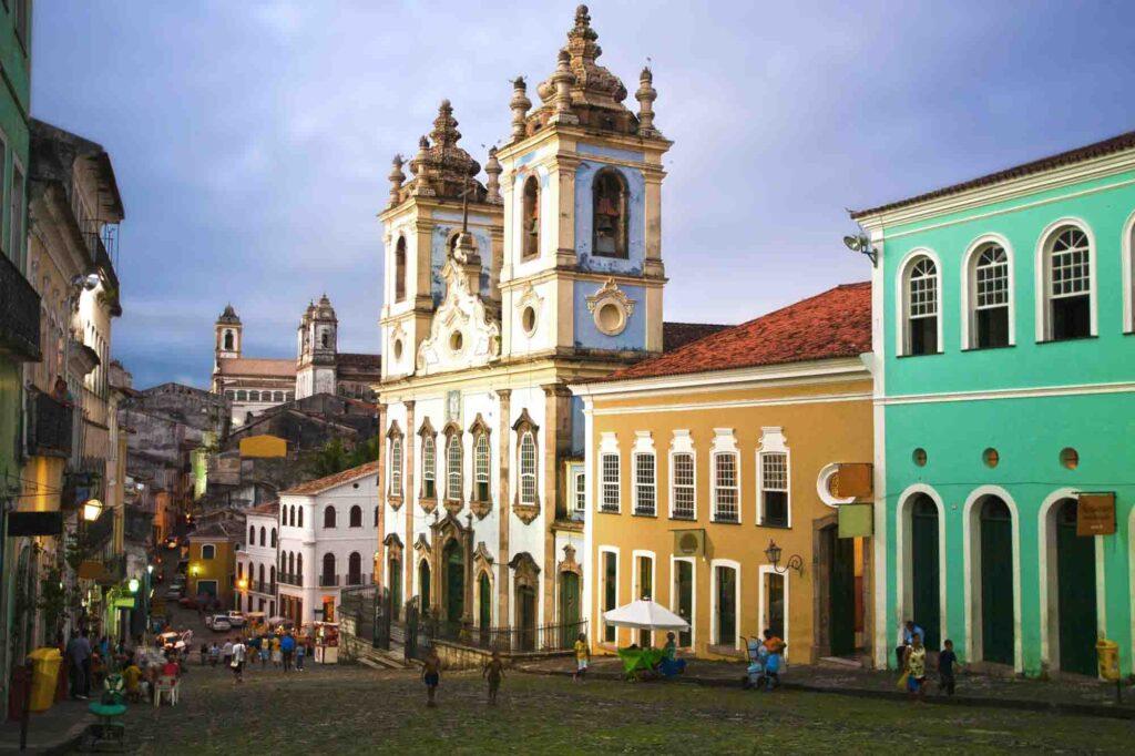 Iglesias rosario dos pretos in pelourinho area in salvador in bahia state brazil