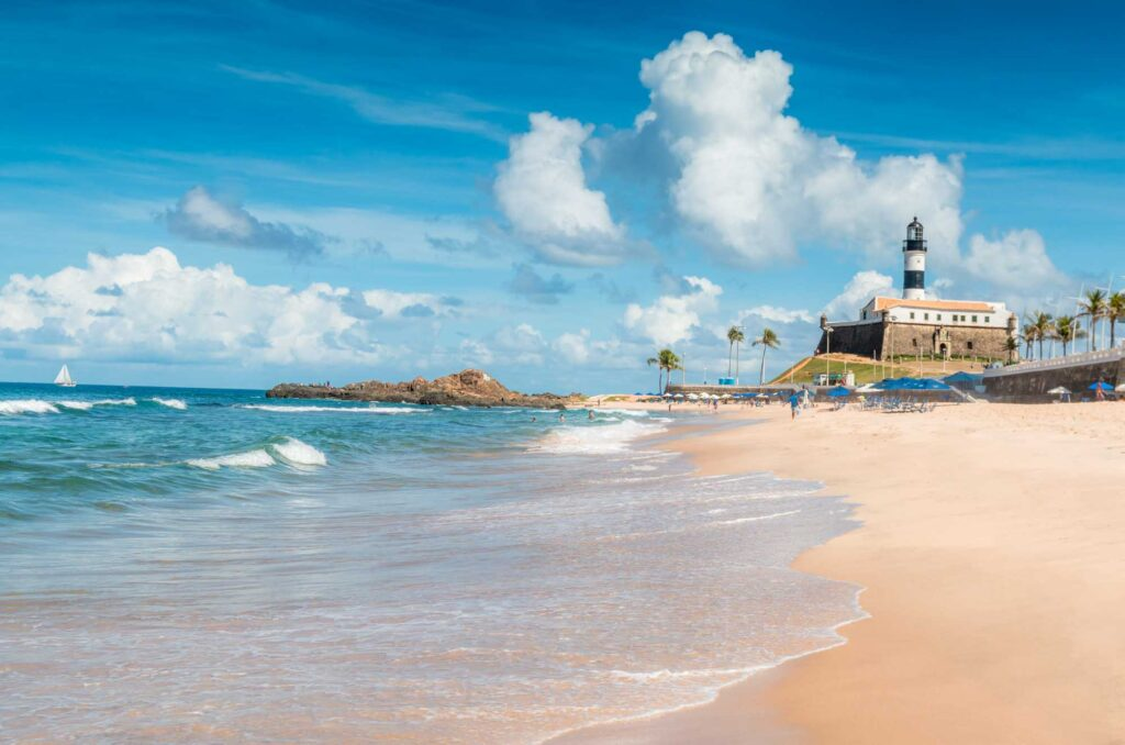 Hitting the beach is one of the best things to do in Salvador, Brazil