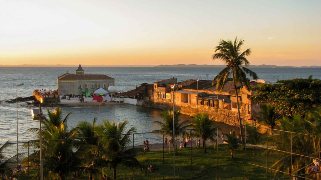 Watching the sunset at Ponta do Humaitá is one of the cool things to do in Salvador, Brazil