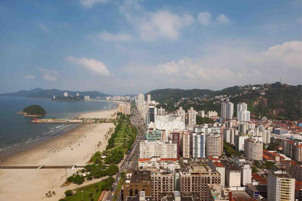 santos city coast, sao-paulo, Brazil